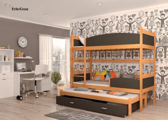 Etagenbetten mit 3 Schlafgelegenheiten