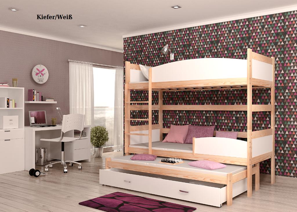 Etagenbett Mit 3 Schlafgelegenheiten : Hochbett jenny cm u yale store