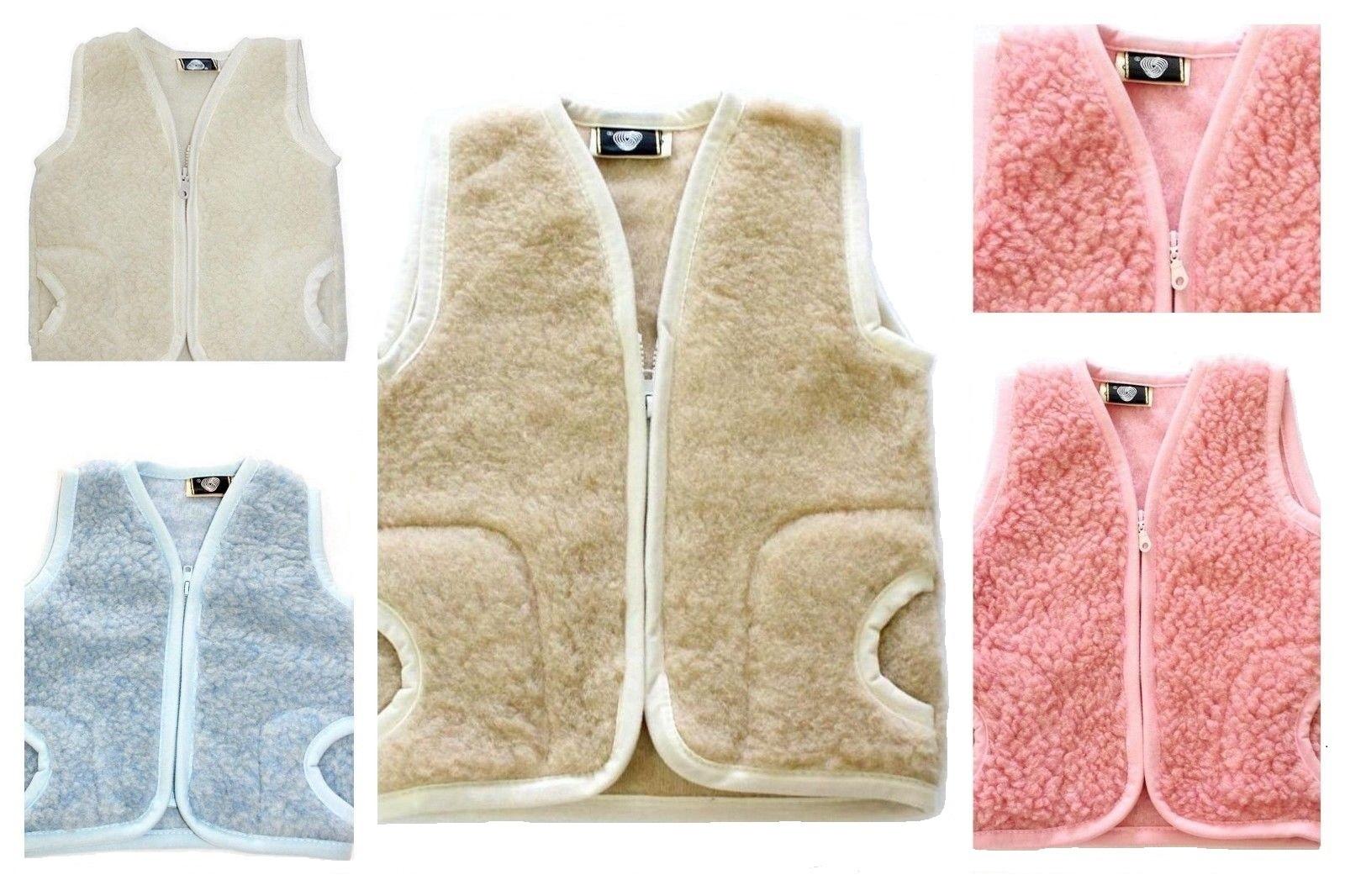 3-5 Jahre Kinderweste Baby Weste 100/% Merino Wolle Schafswolle blau Gr